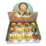 MINI METAL GRINDERS WITH RASTA STICKERS 2CM
