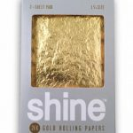 Shine 24K 1/4 SIZE Gold Rolling Papers 2 Sheet Pack
