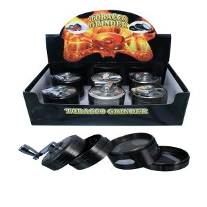 GRINDER Con Manovella Semi Trasparente 55MM 4 PARTS